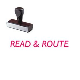 Read & Route Rubber Stamp
