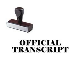 Official Transcript Rubber Stamp