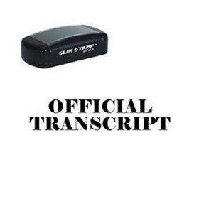 Slim Pre-Inked Official Transcript Stamp