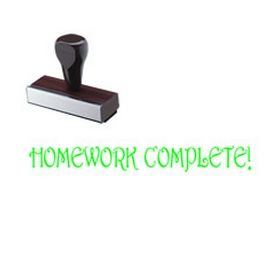 Homework Complete Rubber Stamp