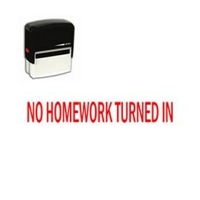 Self-Inking No Homework Turned In Stamp