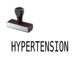 Hypertension Rubber Stamp
