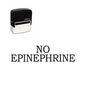 Self-Inking No Epinephrine Stamp