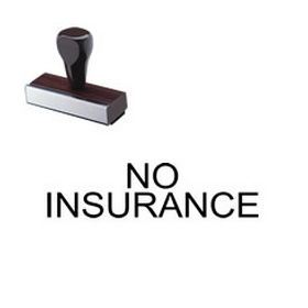 No Insurance Rubber Stamp