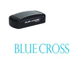 Pre-Inked Blue Cross Stamp
