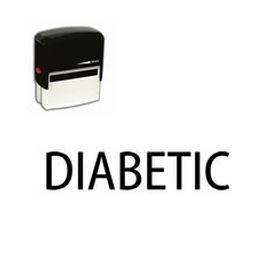 Self-Inking Diabetic Medical Stamp
