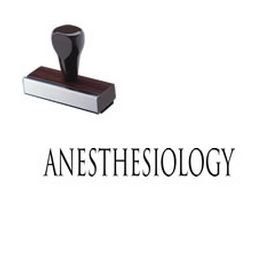Anesthesiology Rubber Stamp