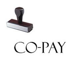 Co-Pay Rubber Stamp