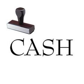 Cash Rubber Stamp