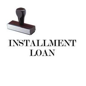 Installment Loan Rubber Stamp