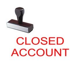 Closed Account Rubber Stamp