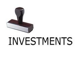 Investments Rubber Stamp