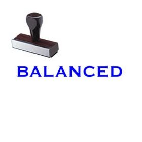Balanced Rubber Stamp