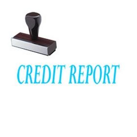 Credit Report Rubber Stamp
