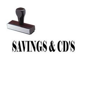 Savings & CDs Rubber Stamp
