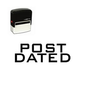 Self-Inking Post Dated Stamp