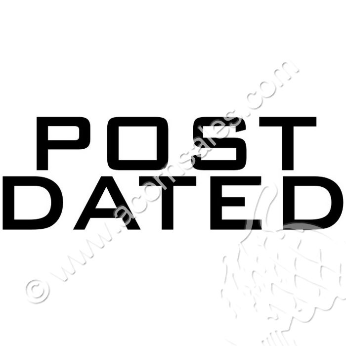 Large Pre-Inked Post Dated Stamp