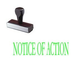 Notice Of Action Rubber Stamp