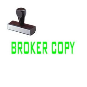 Broker Copy Rubber Stamp
