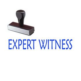 Expert Witness Rubber Stamp