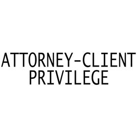 Self Inking Attorney Client Privilege Stamp