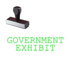 Government Exhibit Rubber Stamp