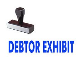 Debtor Exhibit Rubber Stamp