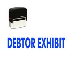 Self-Inking Debtor Exhibit Stamp