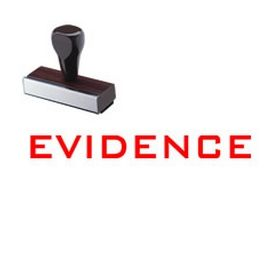 Evidence Legal Rubber Stamp
