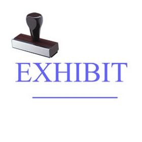 Exhibit Rubber Stamp