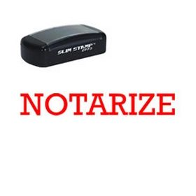 Pre-Inked Notarize Stamp