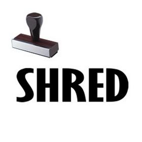 Shred Rubber Stamp