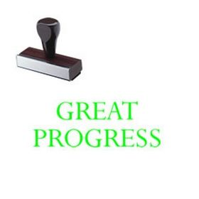 Great Progress Rubber Stamp