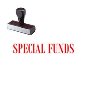 Special Funds Rubber Stamp