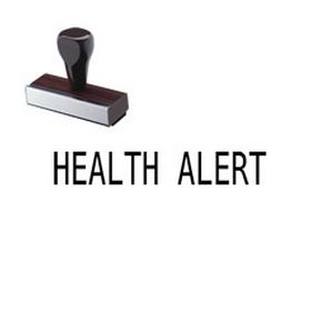 Health Alert Rubber Stamp