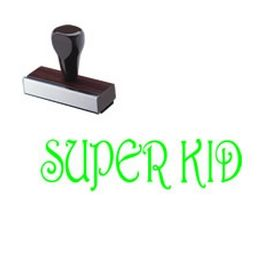 Super Kid Teacher Rubber Stamp
