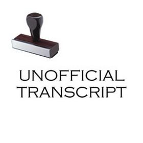 Unofficial Transcript Rubber Stamp