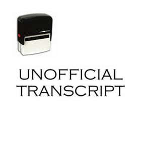 Self-Inking Unofficial Transcript Stamp