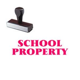 School Property Rubber Stamp