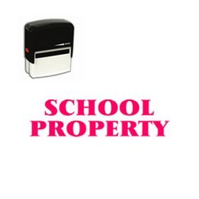 Self-Inking School Property Stamp