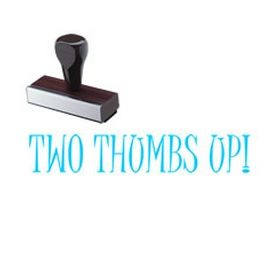 Two Thumb's Up Rubber Stamp