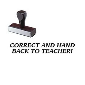 Correct And Hand Back To Teacher Rubber Stamp