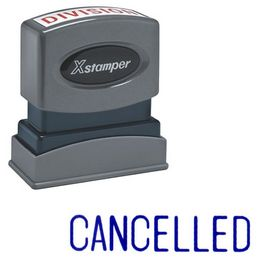 Cancelled Xstamper Stock Stamp