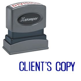 Client's Copy Xstamper Stock Stamp