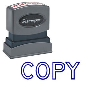 Blue Copy Xstamper Stock Stamp
