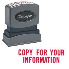 Copy For Your Information Xstamper Stock Stamp