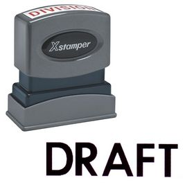 Black Draft Xstamper Stock Stamp