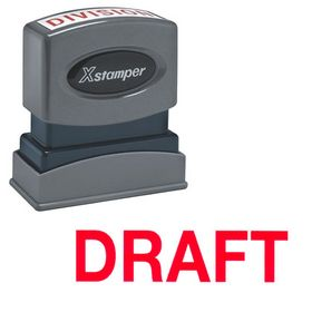 Red Draft Xstamper Stock Stamp