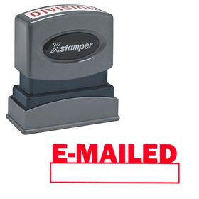 E-Mailed Xstamper Stock Stamp