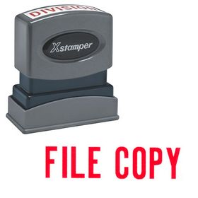 Red File Copy Xstamper Stock Stamp